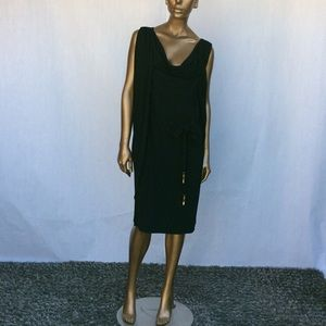 Escada Black Draped Dress
